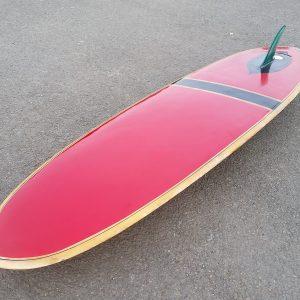 Vintage bilbo 1960s surfboard transitional