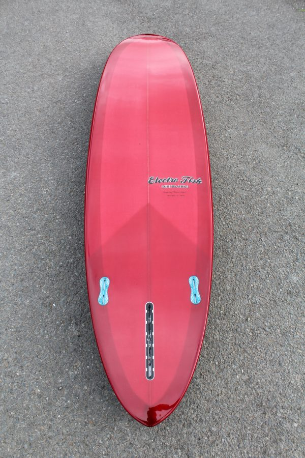 Rounded pintail surfboard