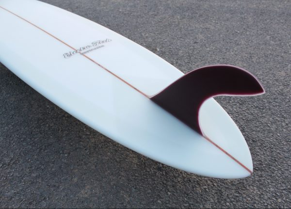 Glass on Fin pintail longboard volan