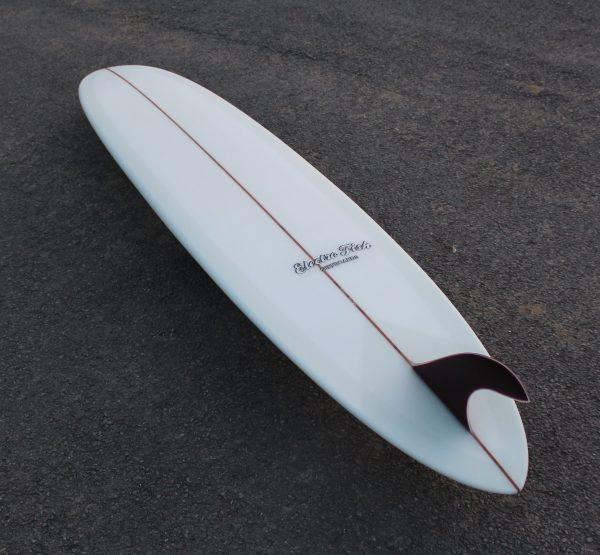 Volan Pintail Longboard Glass On Fin Leash Loop