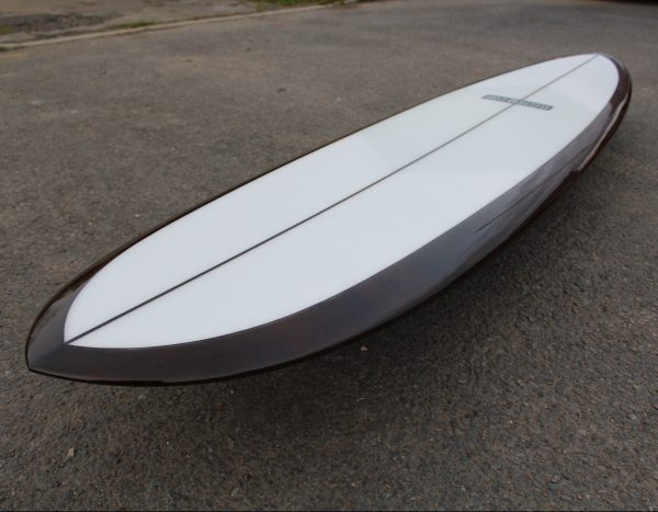 Down rail surfboard