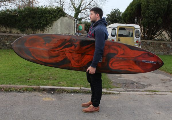 Resin Swirl Midlength Surfboard